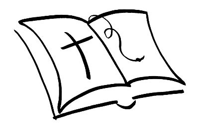 Stempel Bibel mit Kreuz 1827949