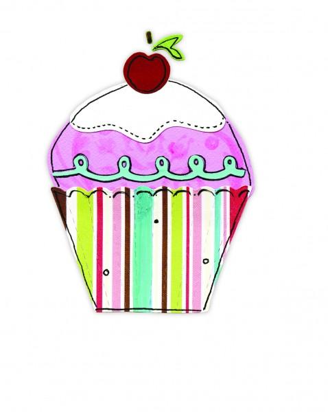 Sizzix Stanzform Sizzlits MEDIUM 3-er Muffin / cupcake 656099