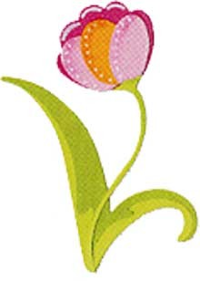Sizzix Stanzform Originals LARGE Blume Tulpe tanzend / flower tulip dance 655457