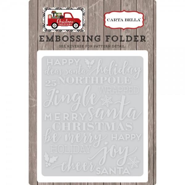Carta Bella Embossingfolder Holiday Phrases BCD58031