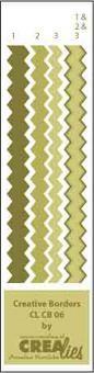Crealies Creative Borders # 6 ( olive-grün ) CLCB-06
