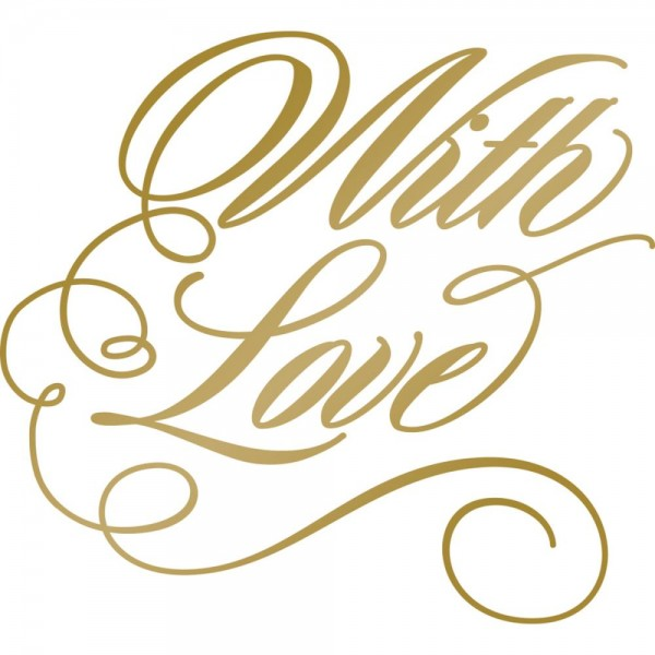 Couture Creations Hotfoil Stamp ' With Love ' CO725289