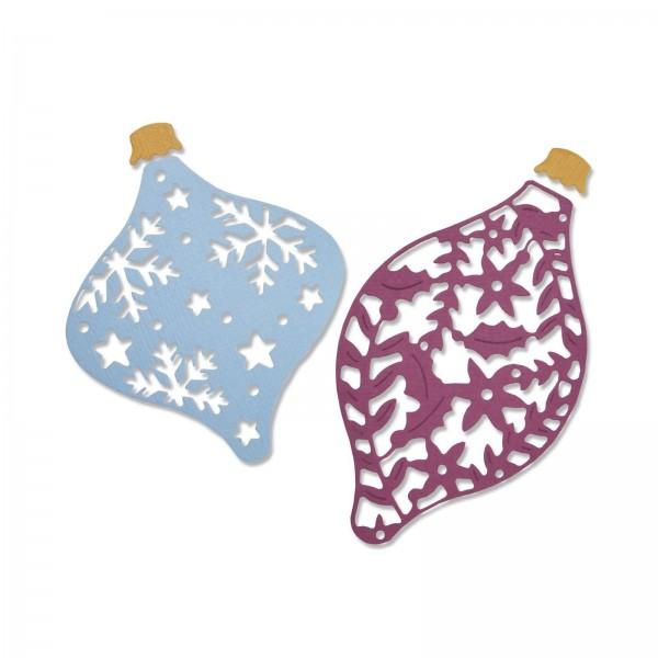 Sizzix Stanzform Thinlits bauchige Weihnachtskugeln / Intricate Baubles 663411
