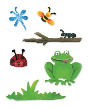 Sizzix Stanzform Sizzlits SMALL 4-er Set Natur-Set / nature set 655315