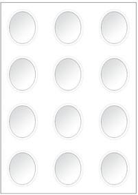 Reddy Klarsichtfenster Bubbles oval 12 Fenster auf 1 Bogen