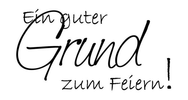 """KnorrPrandell Cart-Us Holz-Stempel """" Ein guter Grund zum Feiern ! """" 1800301"""