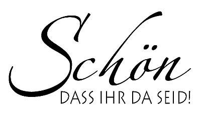 """KnorrPrandell Holz-Stempel """" SCHÖN, DASS IHR DA SEID """" 1812212"""