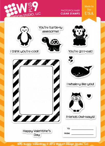 WPlus9Design Clear Stempelset Bitty Buddy Valentines CL-WP9BBV