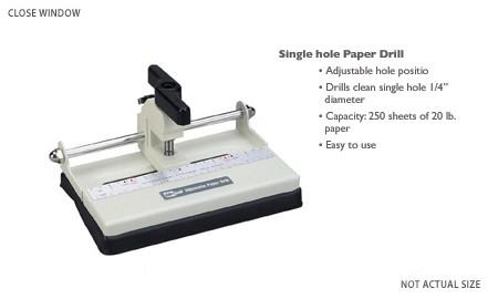 Papierbohrer klein mit 1 Einsatz 56000
