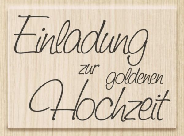 KnorrPrandell Cart-Us Holz-Stempel ' Einladung zur goldenen Hochzeit ' 1800004