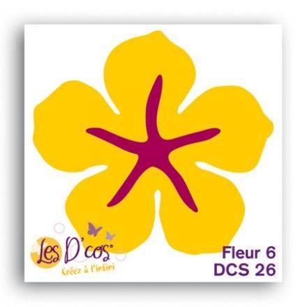 Toga Stanzform Blume 6 / fleur 6 DCS26
