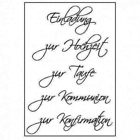Efco Clear Stempel Set Einladung Zur Hochzeit Taufe Kommunion Konfirmation 4511020