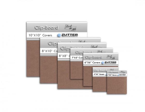 """Clip-Board 4 """" x 4 """" = 10,1 cm x 10,1 cm ( 2 Stück ) 2808"""
