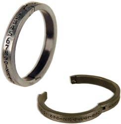 Metall-Ring antik-silber mit Zahlen zum Öffnen ( 1 Stück ) 12602