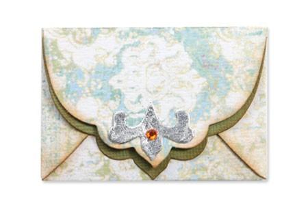 Sizzix Stanzform BIGZ Umschlag Ornate 6,6 cm x 4,7 cm / Envelope w/Ornate Flap 656557