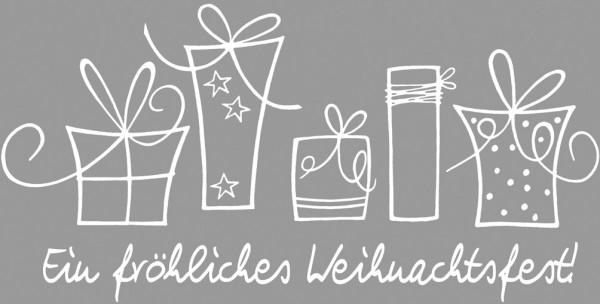 """Stempel """"Ein fröhliches Weihnachtsfest!"""" u. Geschenke 28-236-00"""