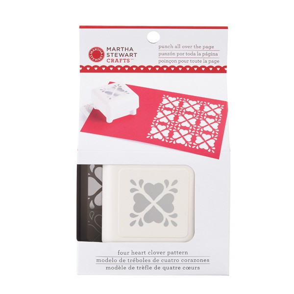 Martha Stewart Punch all over the page Heart Clover 42-91011