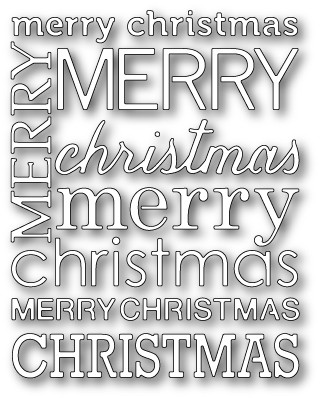 Poppystamps Stanzform Merry Christmas Background 1065