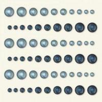 Basic Grey Halbperlen ( 60 Stück ) selbstklebend indigo / sky OPA-1756