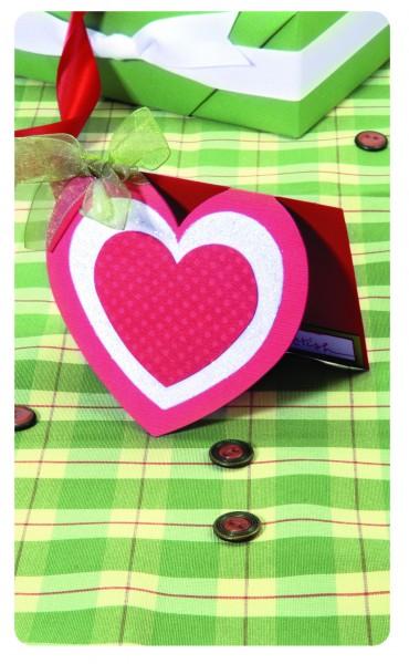 Sizzix Stanzform BIGZ XL Herzkarte / card heart w/ hearts 656091