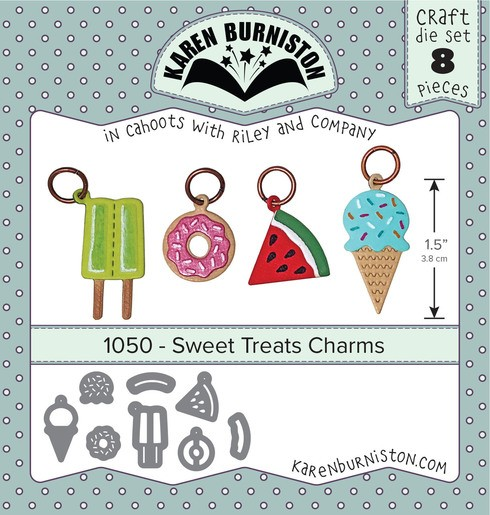 Karen Burniston Stanzform Süßigkeiten-Charms / Sweet Treats Charms 1050