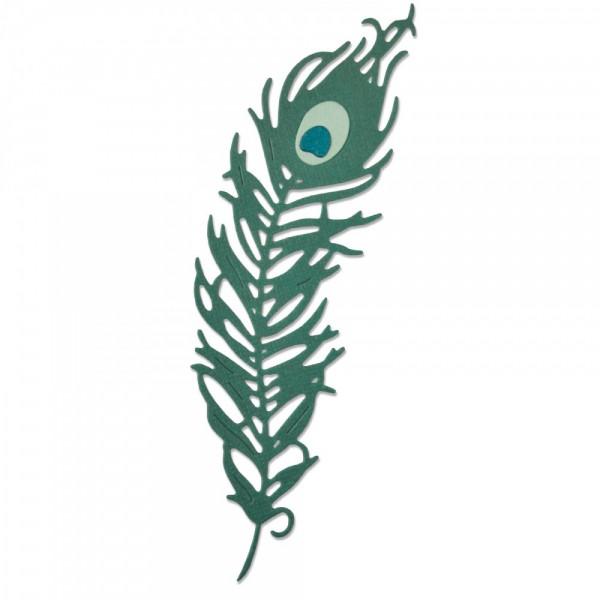 Sizzix Thinlits Stanzform Pfauen-Feder / Peacock Feather 661708