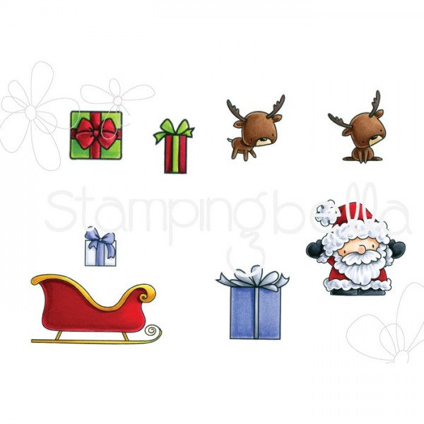 Stampingbella Cling Stempel Santa's Gifts EB566