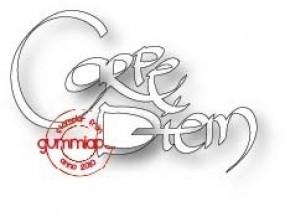 Gummiapan Stanzform Wort ' Carpe Diem ' D170333