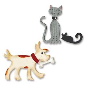 Sizzix Stanzform BIGZ Hund , Katze u. Maus / dress ups pets 655722