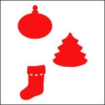 Allstar Dekorationen Weihnachtsbaum, Socken, Weihnachtskugel / c