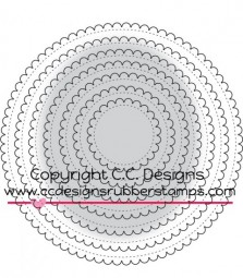 C.C.Designs Stanzform Kreise gewellt / Scalloped Circle CCC0014