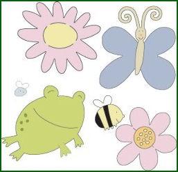Cuttlebug Stanzform 4-er Set KLEIN Gartenkreaturen / garden creatures 37-1212