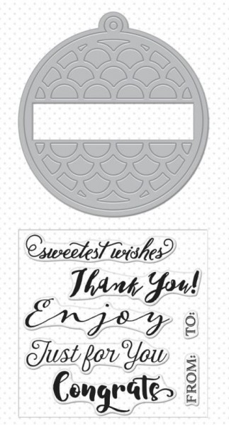Hero Arts Stanzform-u. Clearstempel-Set Thank You Tag DC178