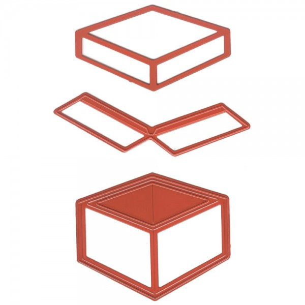 Joycrafts Stanzform Box 6002/0391 ( rot )