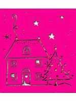 Nellie Snellen Metall-Prägeschablone Haus im Schnee LD012 ( pink )