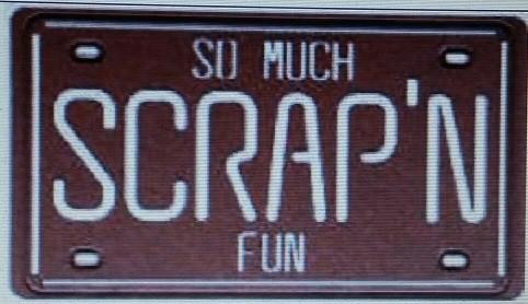Spellbinders Stanzform Scrap`n Nummerschild / scrap´n license plate S3-115