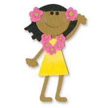 Sizzix Stanzform Sizzlits MEDIUM 1-er Mädchen aus Hawaii / girl Hawaiian 654800