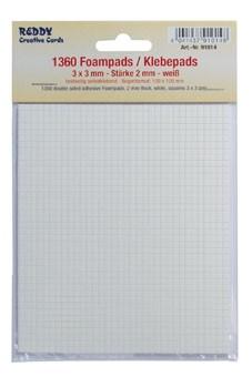 Reddy Cards Klebepads 3 mm x 3 mm, Dicke 2 mm weiss 91014