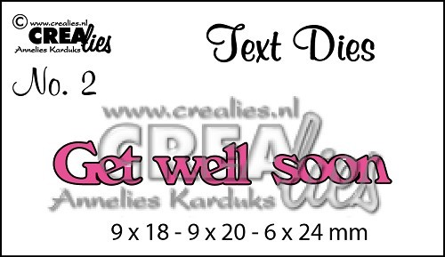 Crealies Stanzform Text Get well soon CLTD02