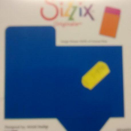 Sizzix Originals Large Einsteckhülle für Büchereikarte / library card pocket 38-1145 / 654654