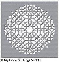 Dienamics Stencil Plastik-Schablone Moroccan Mosaic ST-108