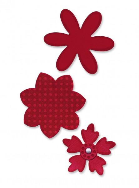Sizzix Stanzform Sizzlits MEDIUM 3-er Blumen / flower layers 656062