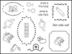Stamping Scrapping Cleear New Little One SMS3028