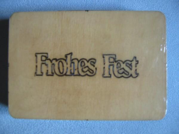 """Stanzform """" Frohes Fest """"klein EIGENDESIGN"""