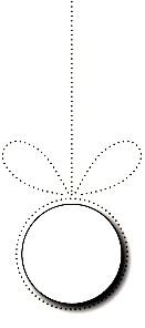 Poppystamps Stanzform Weihnachtskugel rund hängend / Pinpoint Bow and Ornament 1650