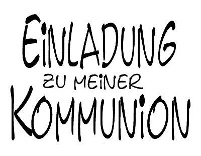 """Stempel """" Einladung zu meiner Kommunion """" 1811704"""