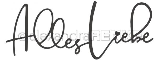Alexandra Renke Stanzform ' Alles Liebe ' D-AR-TY0069