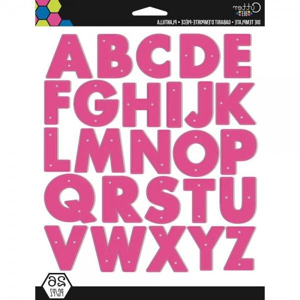 EK Success Stanzform Alphabet Großbuchstaben / Alphabet 54-80032