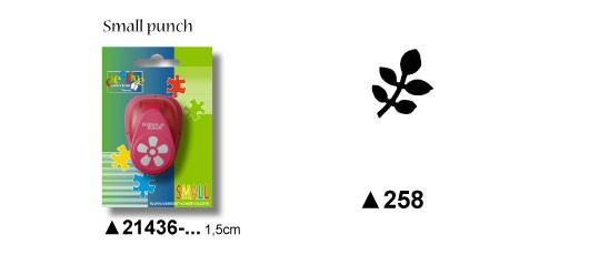 Motivstanzer Blatt small ( bordeaux ) 21436-258