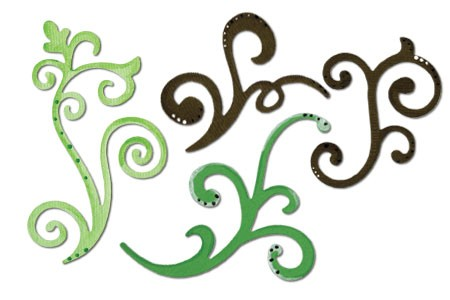 Sizzix Stanzform Sizzlits MEDIUM 3-er decorative flourishes Set 656538